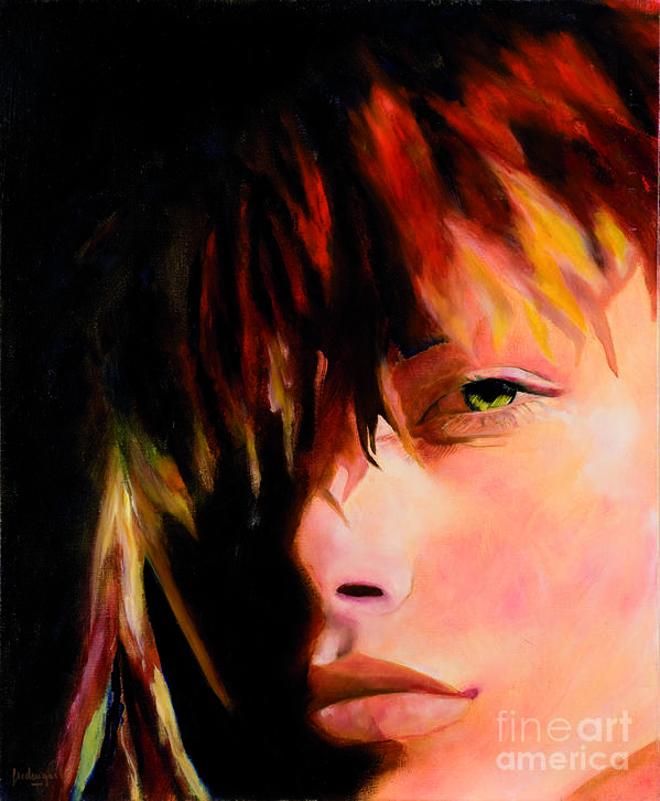 Portrait Art Print featuring the painting Naked Eye by Krzis-Lorent Frederique