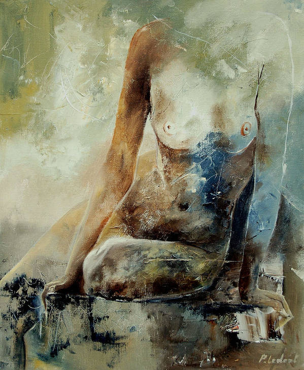 Nude Art Print featuring the painting Nude 560408 by Pol Ledent