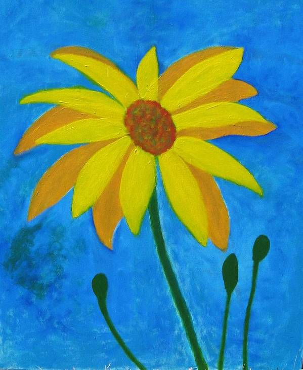Sunflower Art Print featuring the painting Old Yellow by John Scates