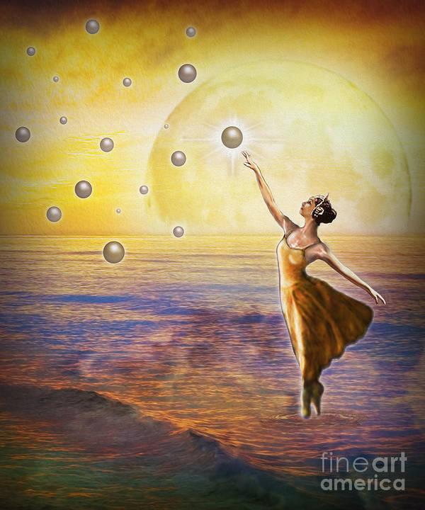 Pearls Of Heaven Art Print featuring the painting Pearls Of Heaven by Todd L Thomas
