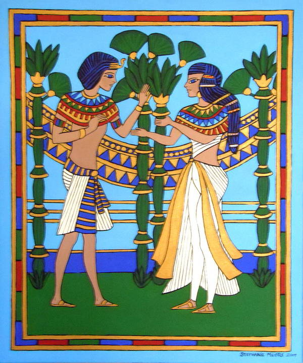 Pharaoh Art Print featuring the painting Pharaoh by Stephanie Moore