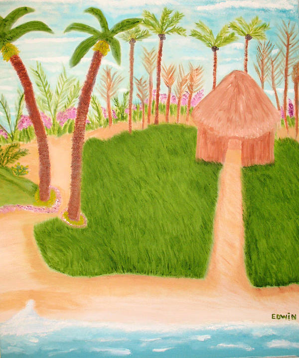 Vacation Art Print featuring the painting Phillipine Vacation by Edwin Long
