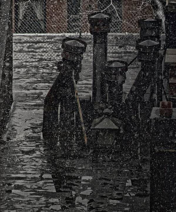 Snow Art Print featuring the photograph Rooftops During Snow by Robert Ullmann