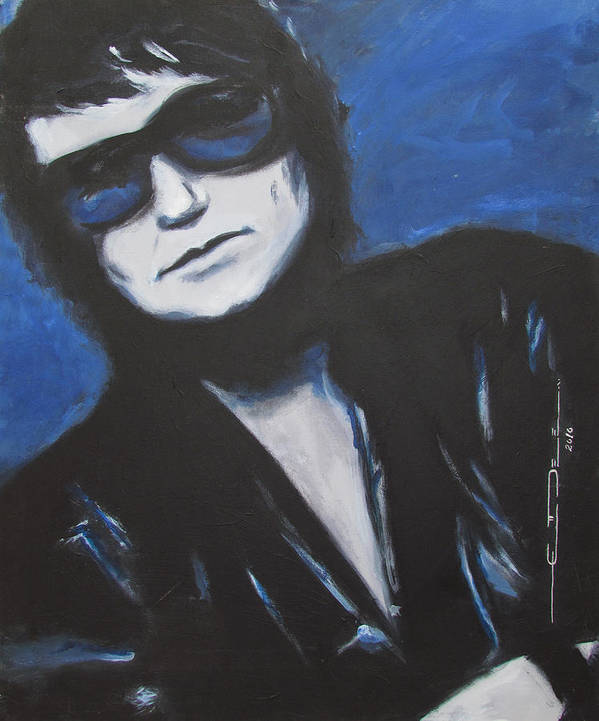 Celebrity Portrait Art Print featuring the painting Roy Orbison In Beautiful Dreams - Forever by Eric Dee