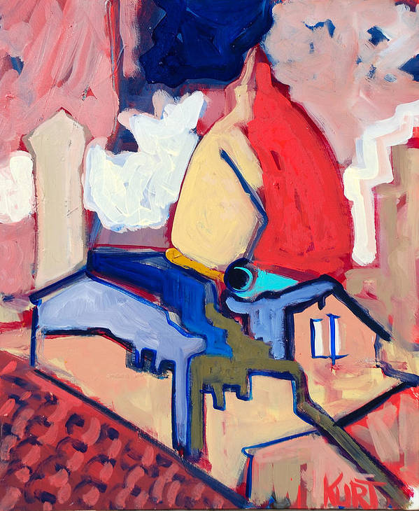 Florence Art Print featuring the painting Salutare by Kurt Hausmann