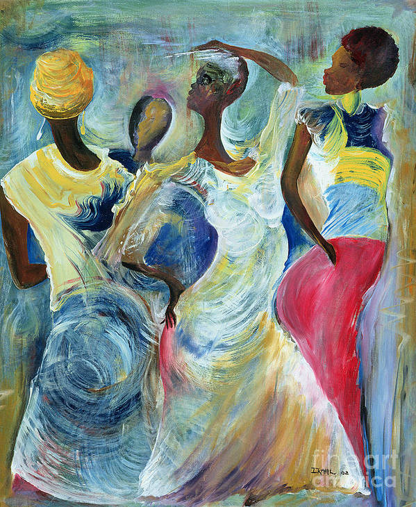 African Art Print featuring the painting Sister Act by Ikahl Beckford