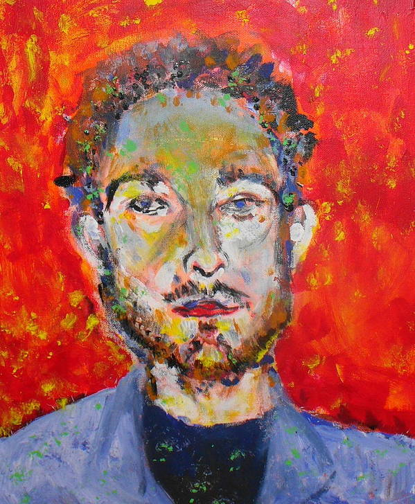 Portrait Art Print featuring the painting Soxb by Joyce Goldin