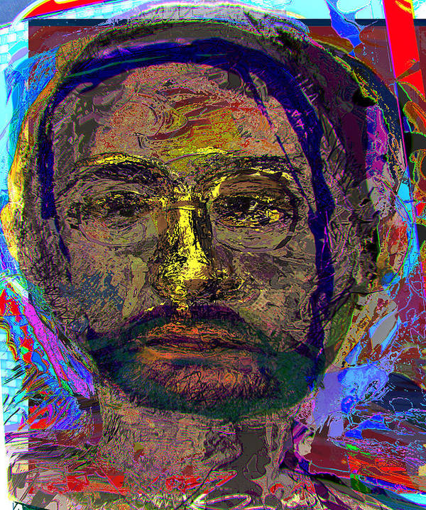 Portrait Art Print featuring the painting Sp 260109 by Noredin Morgan
