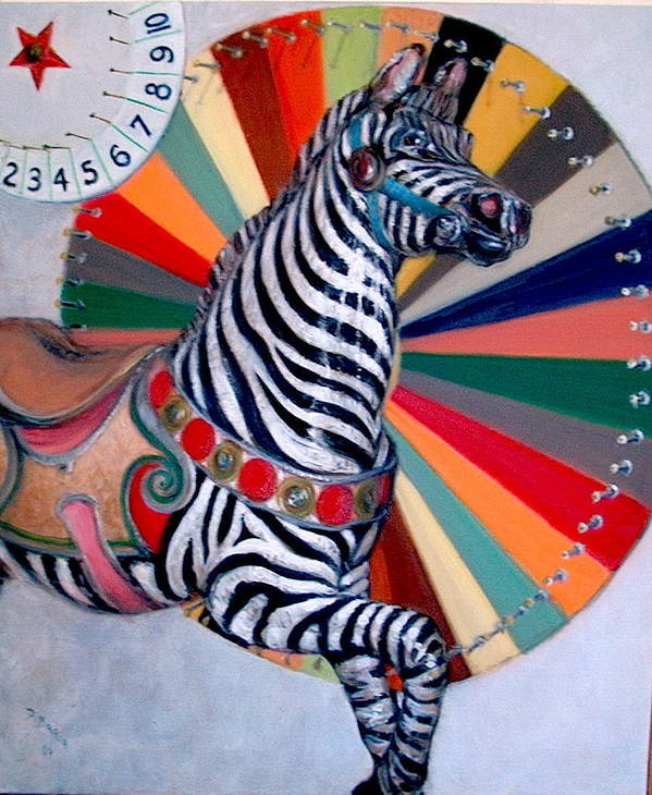 Realism Art Print featuring the painting Stripes by Donelli DiMaria