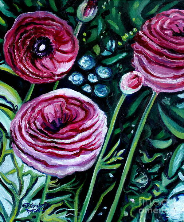 Garden Art Print featuring the painting Sweet Delight by Elizabeth Robinette Tyndall