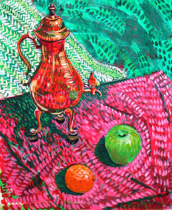 Still Life Art Print featuring the painting Teapot by Rollin Kocsis