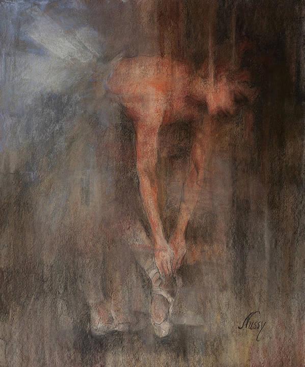 Ballet Dancers Art Print featuring the painting The Ballet Dancer Swan Lake by Elisabeth Nussy Denzler von Botha