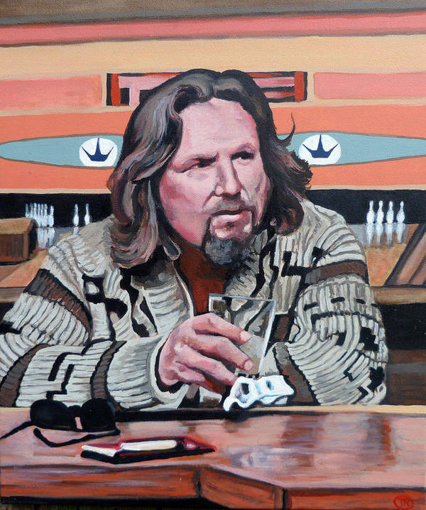 Dude Art Print featuring the painting The Dude by Tom Roderick
