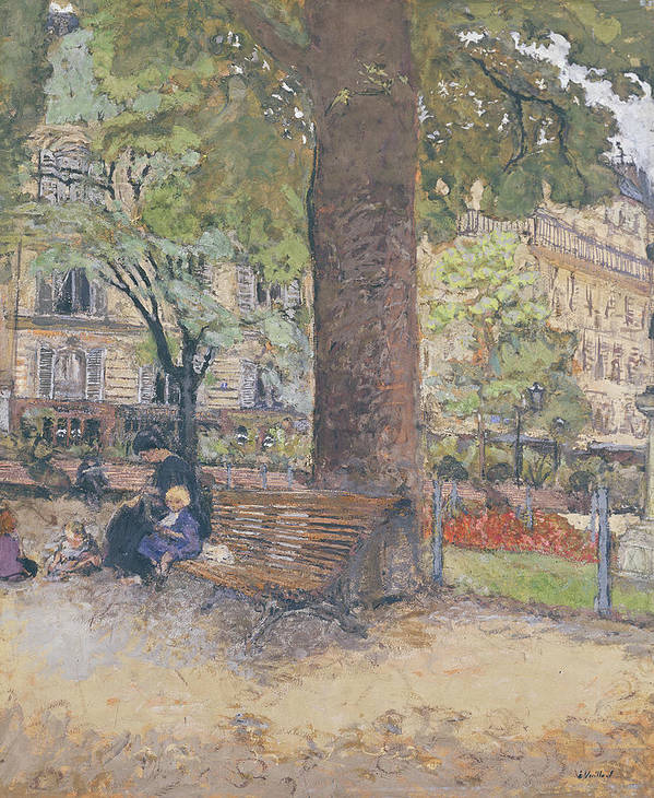 The Art Print featuring the painting The Square At Vintimille by Edouard Vuillard