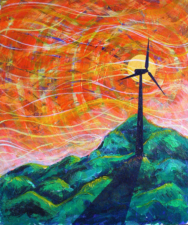 Rollin Art Print featuring the painting The Wind by Rollin Kocsis