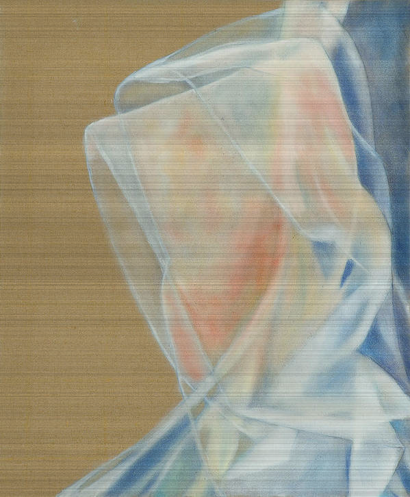 Portrait Art Print featuring the painting Transparence by Krzis-Lorent Frederique