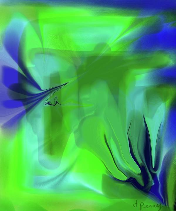 Abstract Art Print Art Print featuring the digital art Undersea by D Perry