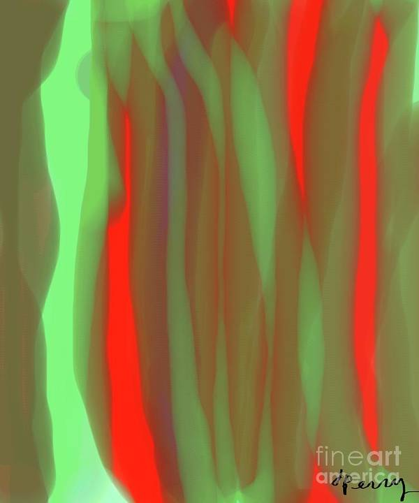Abstract Art Print Art Print featuring the digital art Vibes by D Perry