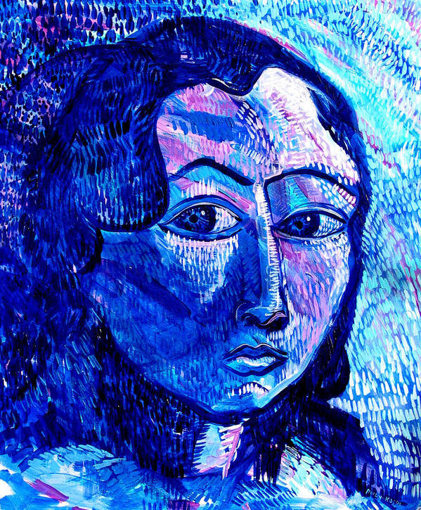 Blue Art Print featuring the painting What Happens To Me Is What I Do by Rollin Kocsis