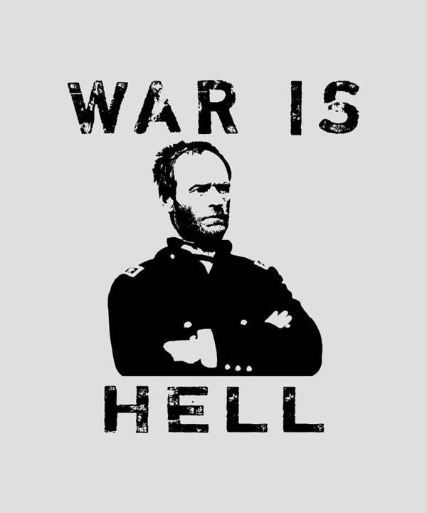 General Sherman Art Print featuring the digital art General Sherman Graphic - War Is Hell by War Is Hell Store