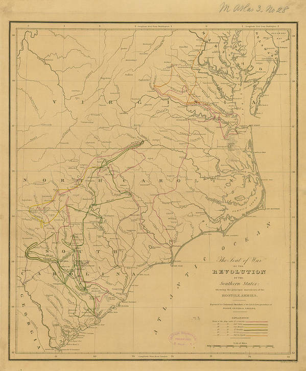 Map Of United States From 1822 Art Print by Historic Map Works Llc
