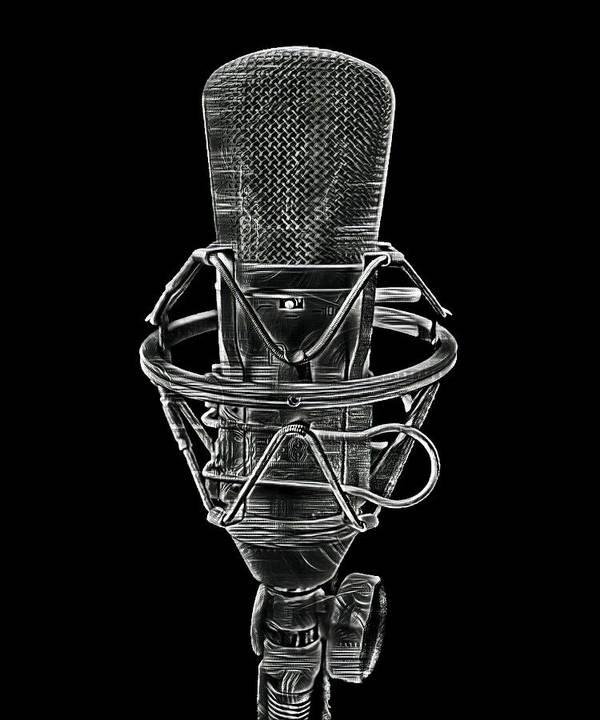 Mic Musian Studio Microphone Record Music Singing Voice Pop Rock Metal Jazz  Art Print