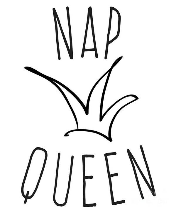 Cute Art Print featuring the digital art Nap Queen by Flippin Sweet Gear
