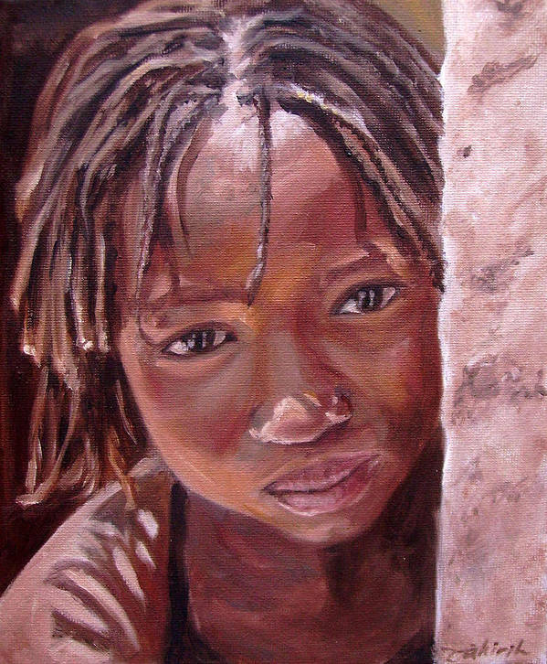 African Girl Art Print featuring the painting Chantal by Tahirih Goffic