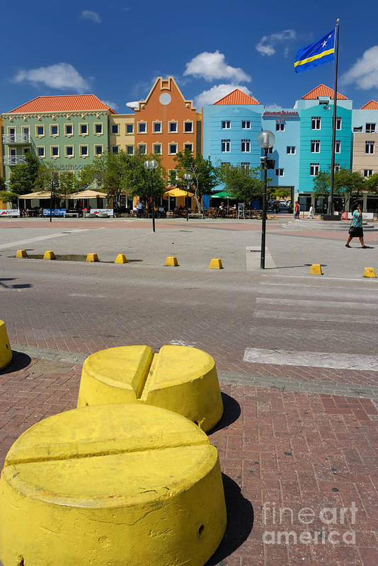 Willemstad Print featuring the photograph Curacaos Colorful Architecture by Amy Cicconi