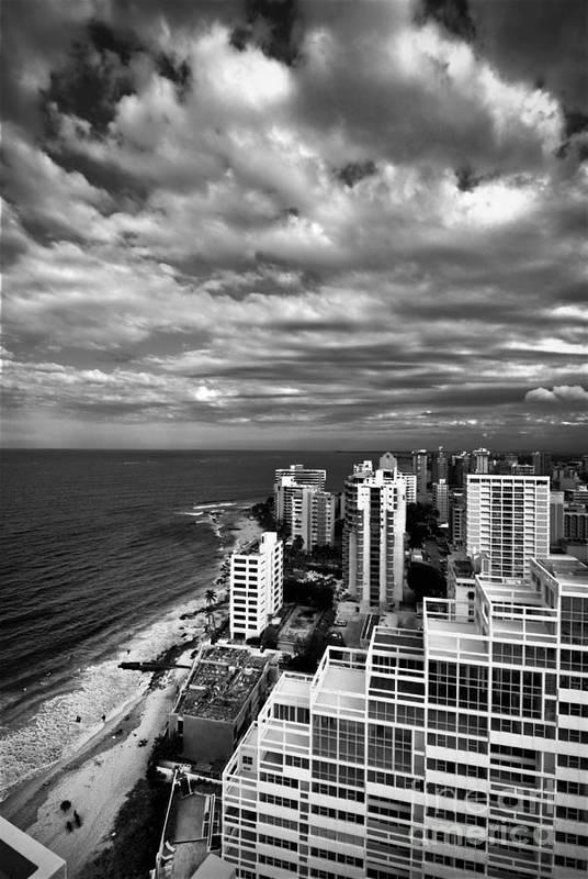 Balcony Art Print featuring the photograph Beach Hotels San Juan Puerto Rico by Amy Cicconi