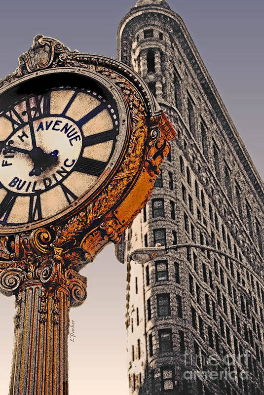 Nyc Art Print featuring the photograph Old Time - Nyc by Linda Parker