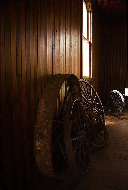 Horseless Art Print featuring the photograph Old Wheels by Viktor Savchenko