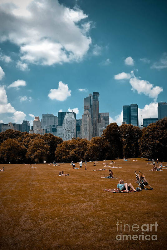 Abstract Art Print featuring the photograph Surreal Summer Day In Central Park by Amy Cicconi