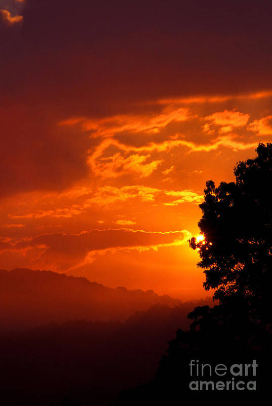 Usa Art Print featuring the photograph West Virginia Late Spring Sunrise by Thomas R Fletcher
