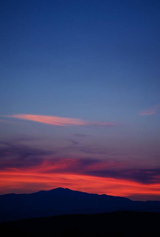 Sunset Art Print featuring the photograph Purple Mountain by Kevin Bone
