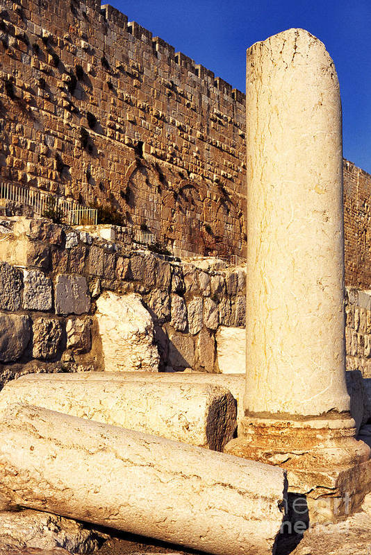 Israel Art Print featuring the photograph Archaeological Garden Southern Temple Mount by Thomas R Fletcher