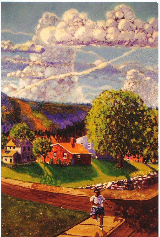 Landscape Art Print featuring the painting Beautiful Day by Jonathan Carter