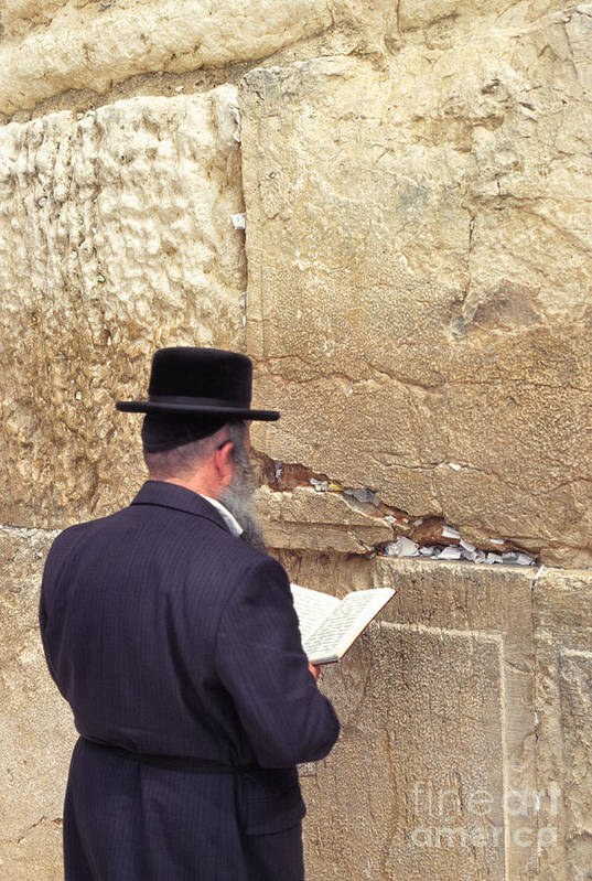 Israel Art Print featuring the photograph Prayer At The Western Wall by Thomas R Fletcher