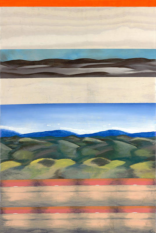 Landscape Art Print featuring the painting Rhythm In Landscape by Kim Nelson