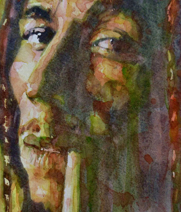 Bob Marley Art Print featuring the painting Bob Marley by Paul Lovering