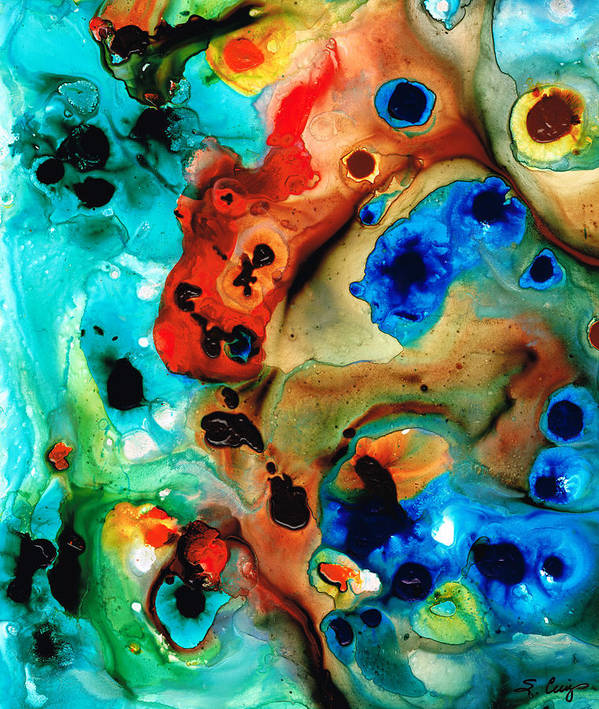 Abstract Art Art Print featuring the painting Abstract 4 - Abstract Art By Sharon Cummings by Sharon Cummings