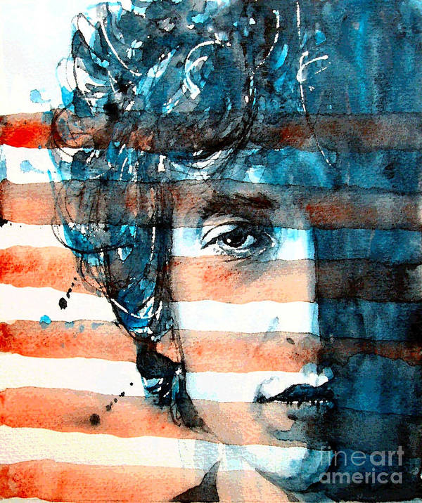 Bob Dylan Art Print featuring the painting An American Icon by Paul Lovering