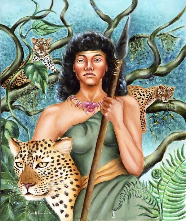 Artemis Art Print featuring the painting Artemis by Karin Leonard