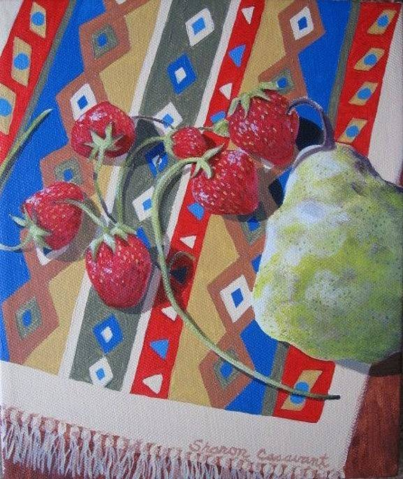 Fruit Art Print featuring the painting Colorful Fruit by Sharon Casavant