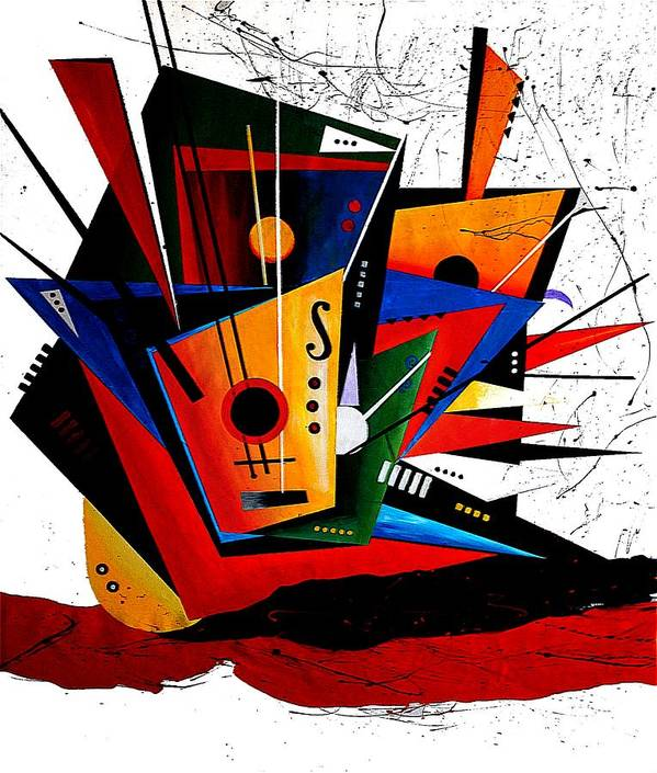 Abstract Art Print featuring the painting Forte by Vel Verrept