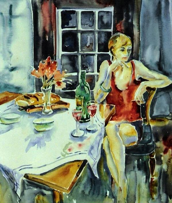 Woman Art Print featuring the painting Isabelle From Paris -  by Trudi Doyle