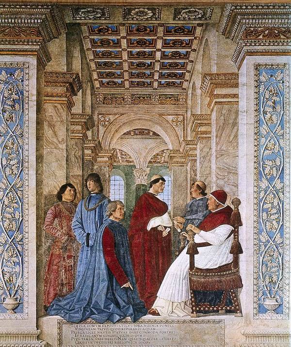 Scene Art Print featuring the photograph Melozzo Da Forli 1438-1494. Sixtus Iv by Everett