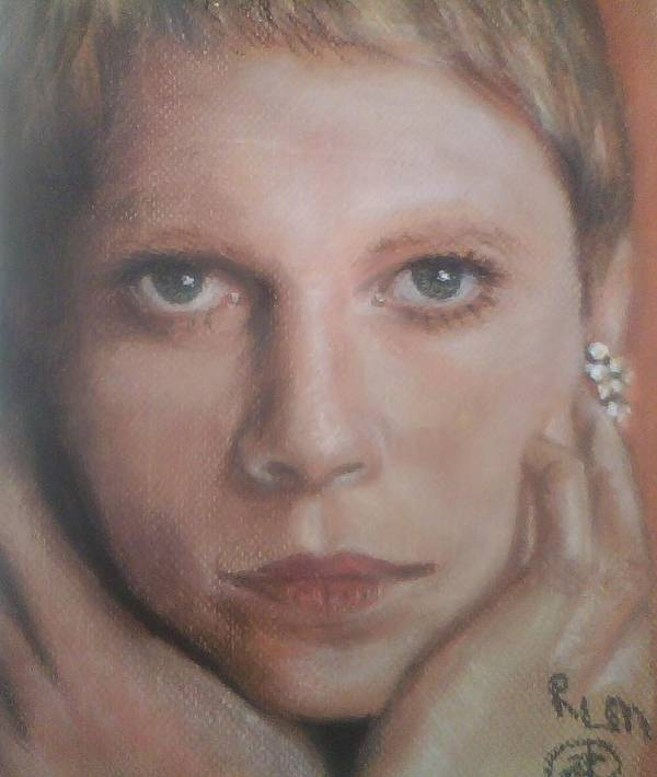 Celebrity Portrait Art Print featuring the pastel Mia Farrow by Ronnie Melvin