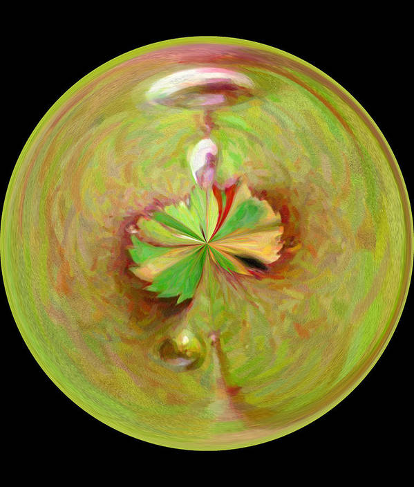 Art Print featuring the photograph Morphed Art Globe 21 by Rhonda Barrett