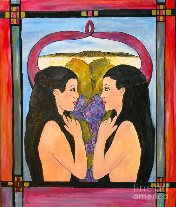 Women Art Print featuring the painting Reflections by Annette Dion McGowan